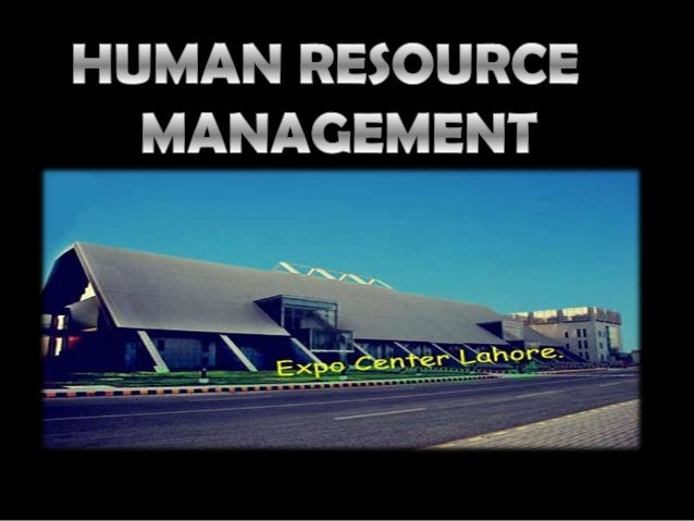 HR Functions Of Lahore International Expo Center.
