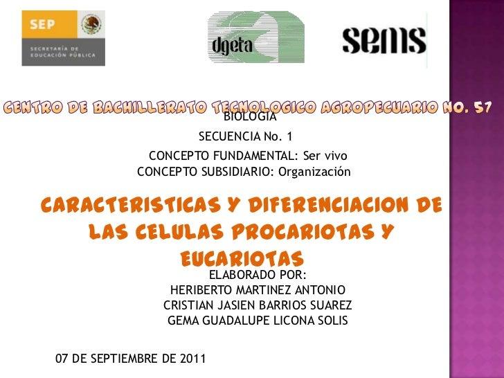 BIOLOGIA                       SECUENCIA No. 1               CONCEPTO FUNDAMENTAL: Ser vivo             CONCEPTO SUBSIDIAR...