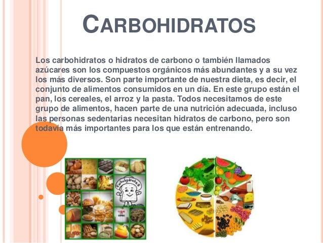Carbohidratos - Alimentos hidratos de carbono ...