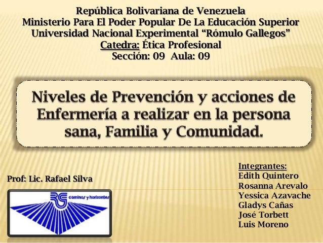 República Bolivariana de Venezuela Ministerio Para El Poder Popular De La Educación Superior Universidad Nacional Experime...