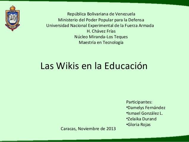 Presentación Uso educativo de la WIKI