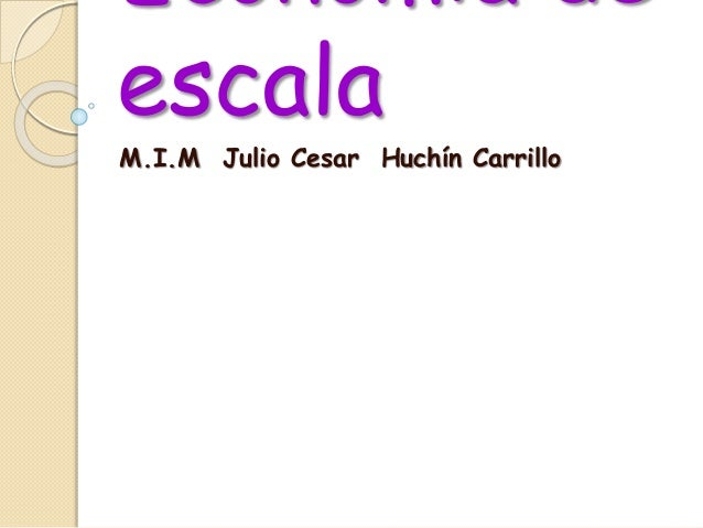 Economía de escala M.I.M Julio Cesar Huchín Carrillo