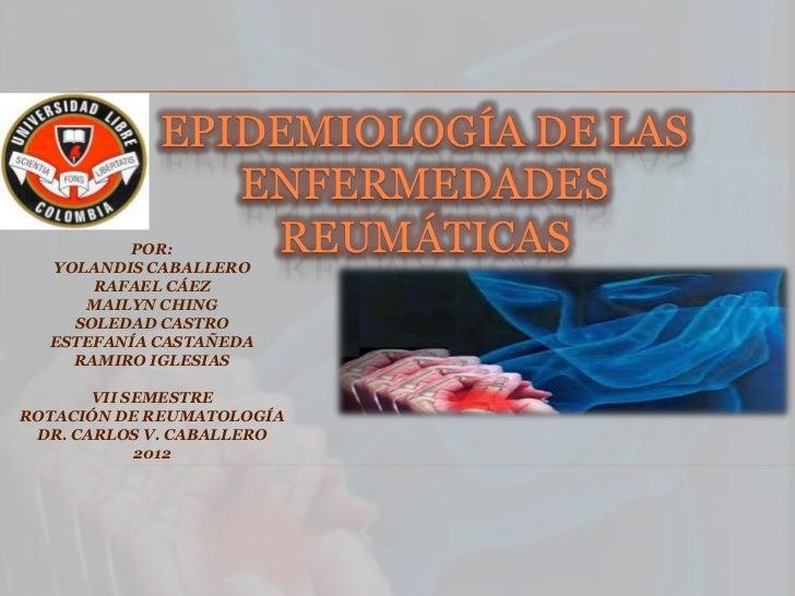 Epidemiología de las enfermedades reumáticas