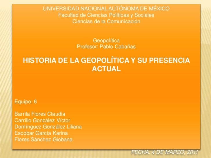 Exposición de Geopolítica