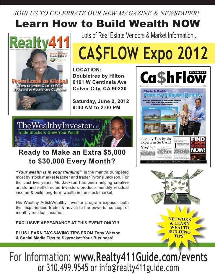 JOIN US TO CELEBRATE OUR NEW MAGAZINE & NEWSPAPER! Learn How to Build Wealth NOW                                   Lots of...
