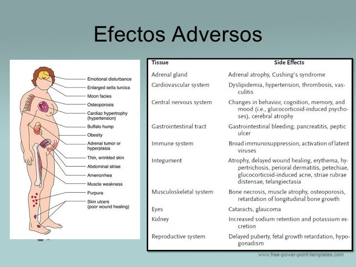 los corticosteroides efectos secundarios