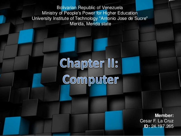 """Bolivarian Republic of Venezuela Ministry of People's Power for Higher Education University Institute of Technology """"Anton..."""