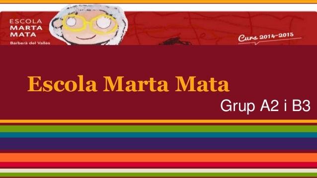 Escola Marta Mata Grup A2 i B3