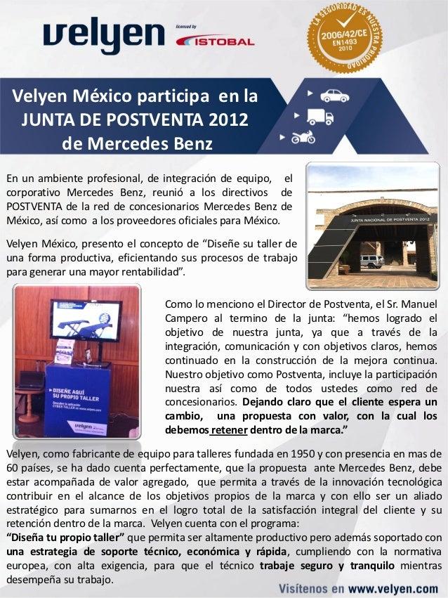 Velyen México participa en la  JUNTA DE POSTVENTA 2012      de Mercedes BenzEn un ambiente profesional, de integración de ...