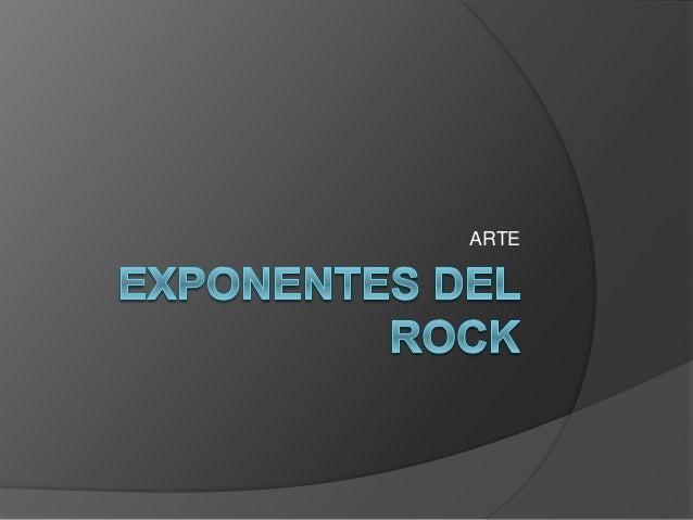 Exponentes del rock