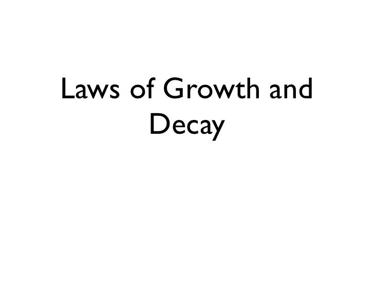 Exponential growth and decay