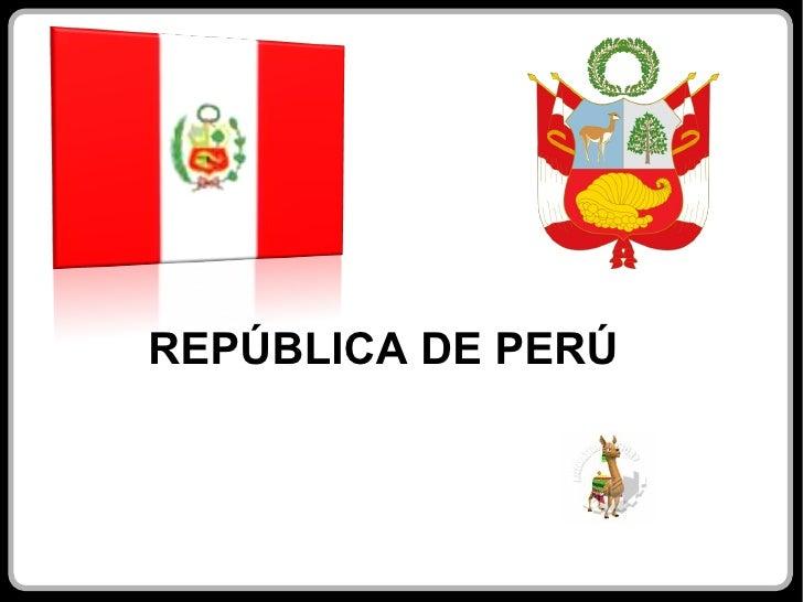 <ul>REPÚBLICA DE PERÚ </ul>