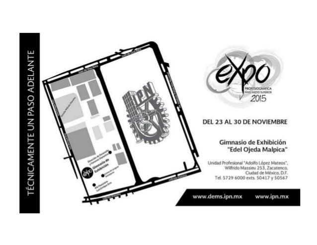 Expo Profesiográfica 2015 del 23 al 30 de noviembre Este magno evento va dirigido a todos aquellos interesados en ingresar...
