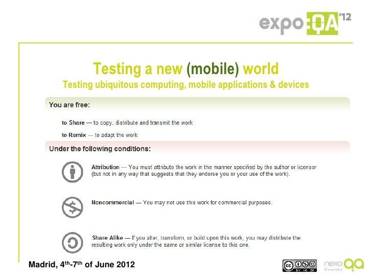 Testing a new mobile world - Eddy Bruin