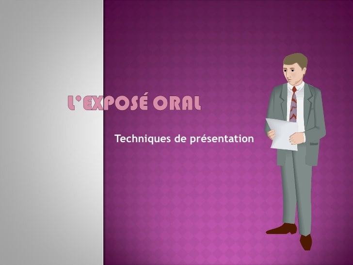 Techniques de présentation