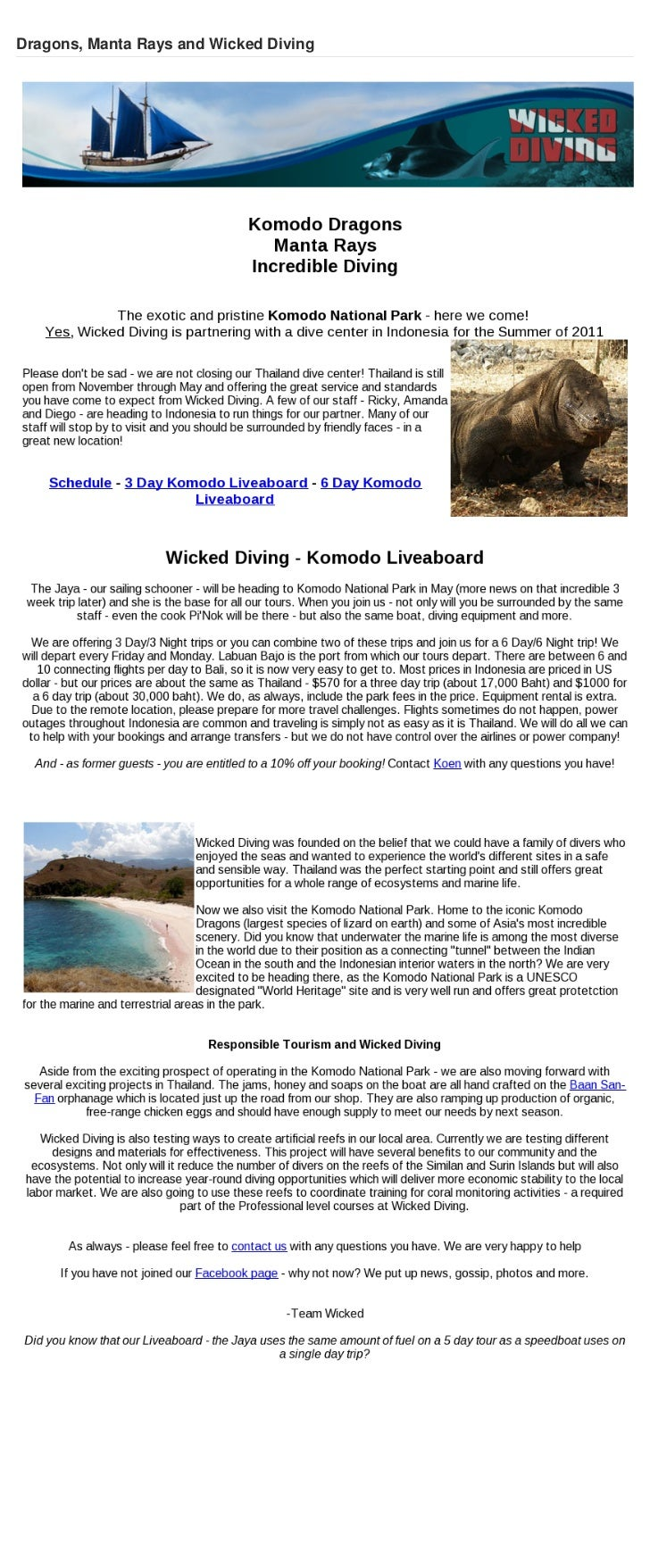 Komodo Scuba Diving - Diving the Komodo Islands with Wicked Diving