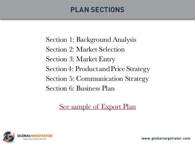 Exporting business plan