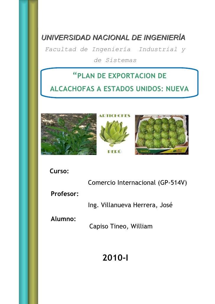 UNI-FIIS                          Comercio Internacional     UNIVERSIDAD NACIONAL DE INGENIERÍA Facultad de Ingeniería    ...