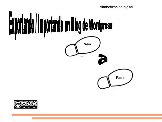 Exportar blog de Wordpress a otro de Wordpress