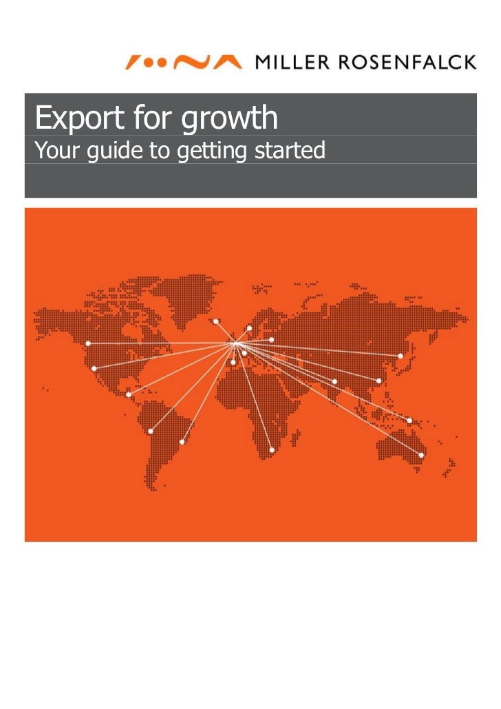 Export for growthYour guide to getting started