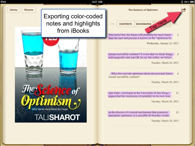 Exporting notes from i books