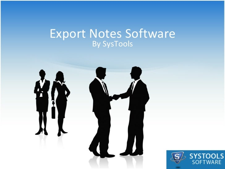 Export Notes Software By SysTools