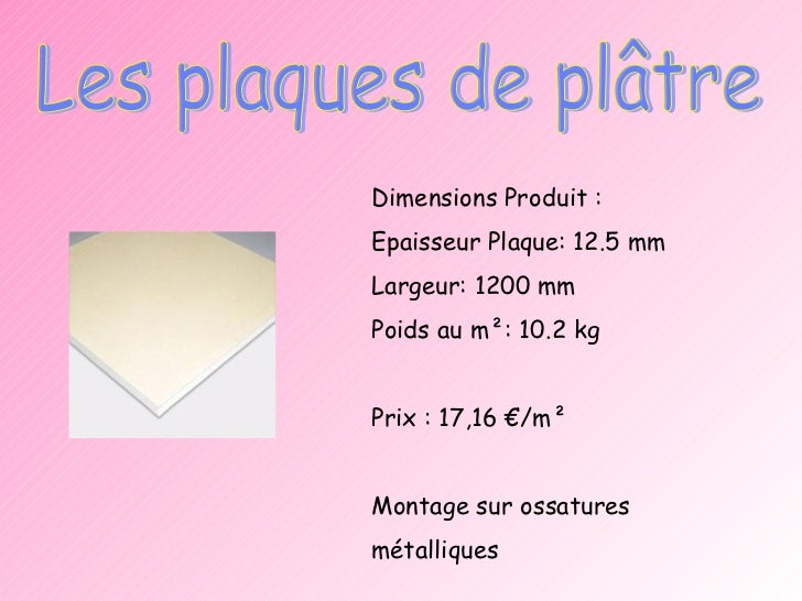 Expos cloisons - Poids plaque ba13 ...