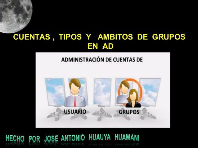 CUENTAS , TIPOS Y AMBITOS DE GRUPOSEN AD