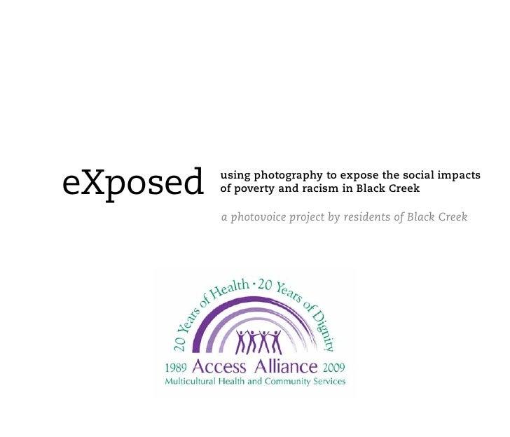 Exposed: Using Photography to Expose the Social Impacts of Poverty and Racism in Black Creek