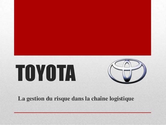 Supply chain of Toyota Presentation (French)