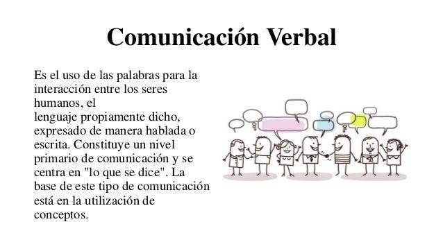 Comunicación Verbal Es el uso de las palabras para la interacción entre los seres humanos, el lenguaje propiamente dicho, ...