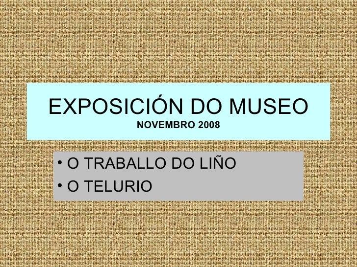 Exposición Museo (novembro)