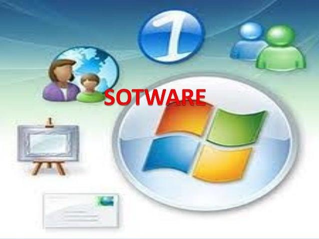 SOFTWARE Se conoce como software al equipamiento lógico o  soporte lógico de una computadora digital; comprende el conju...