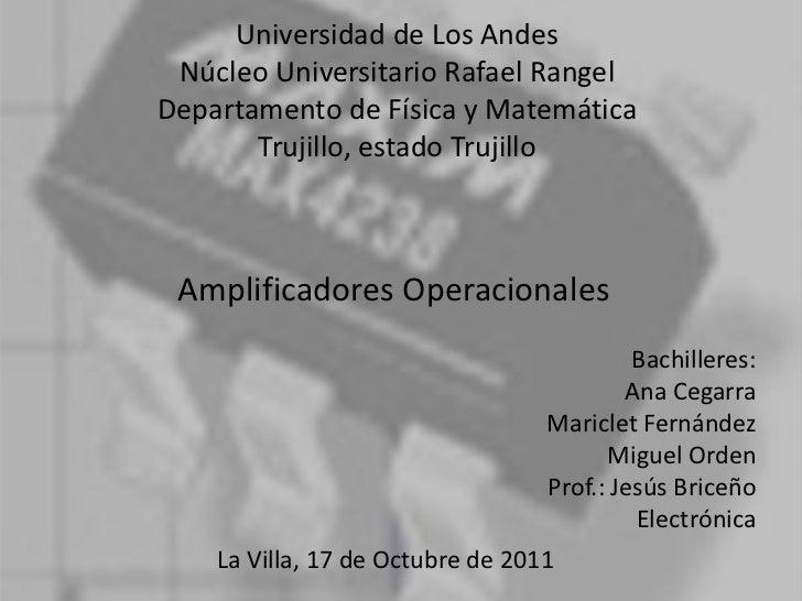 Exposición amplificadores operacionales