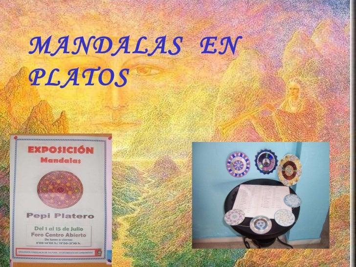 Exposición de mandalas en platos