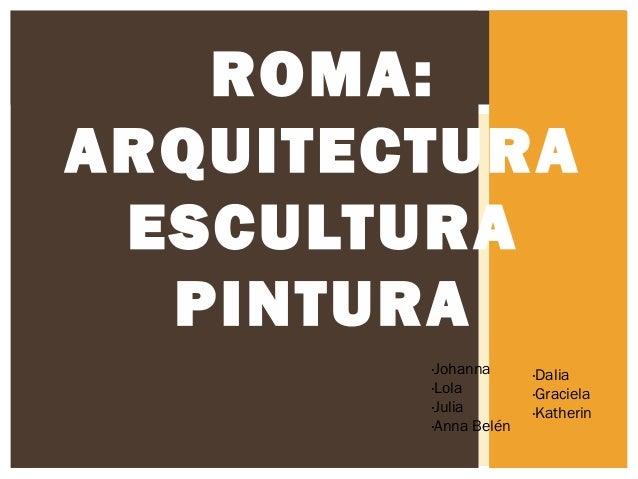 ROMA: ARQUITECTURA ESCULTURA PINTURA ·Johanna ·Lola ·Julia ·Anna Belén  ·Dalia ·Graciela ·Katherin