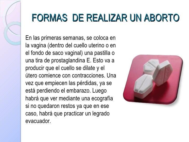 como administrar misoprostol para un aborto