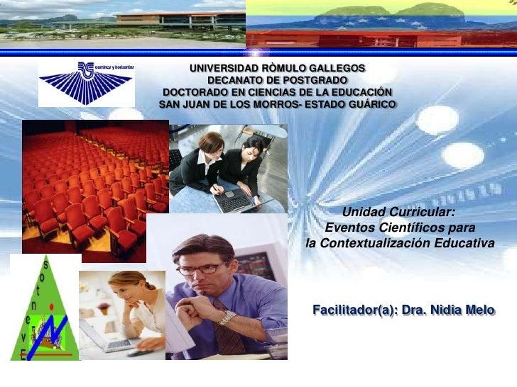 Exposición Eventos Científicos Doctorado