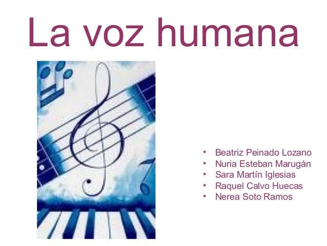 La voz humana • Beatriz Peinado Lozano • Nuria Esteban Marugán • Sara Martín Iglesias • Raquel Calvo Huecas • Nerea Soto R...