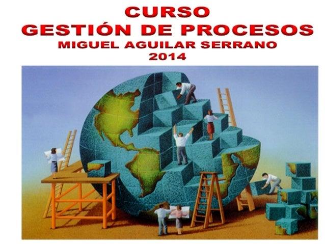 Exposición  gestión de procesos jul.2013 - Dr. Miguel Aguilar Serrano