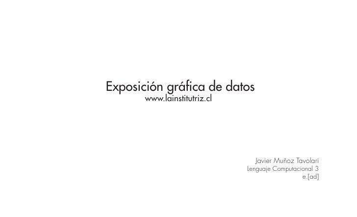 Exposición gráfica de datos        www.lainstitutriz.cl                                     Javier Muñoz Tavolari         ...