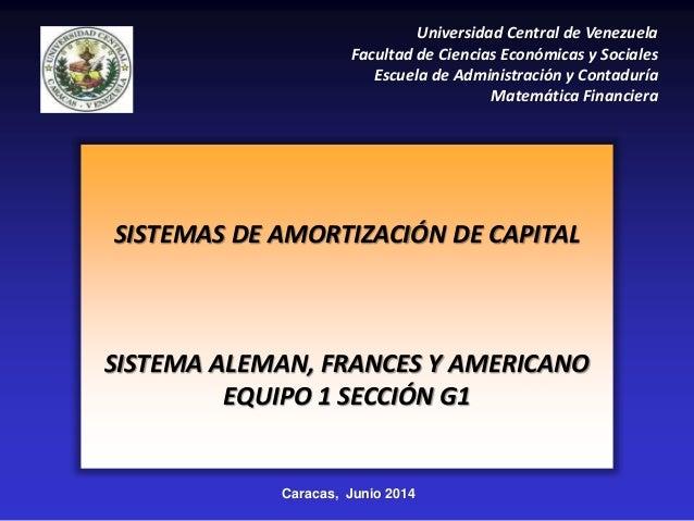 Caracas, Junio 2014 Universidad Central de Venezuela Facultad de Ciencias Económicas y Sociales Escuela de Administración ...