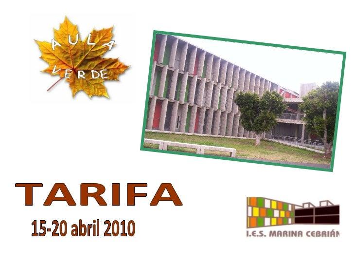 TARIFA  15-20 abril 2010