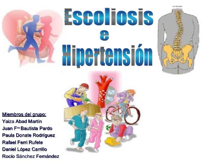 Prescipción de ejercicio para un sujeto con escoliosis e hipertensión