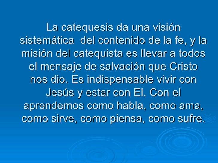 Perfil de Un Catequista