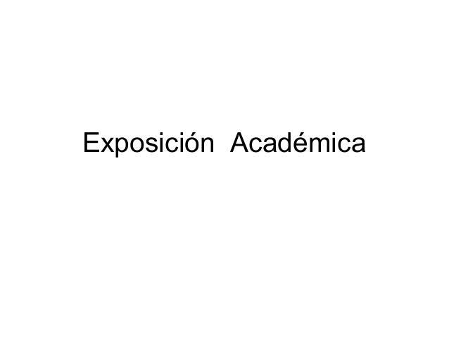 Exposicion academica