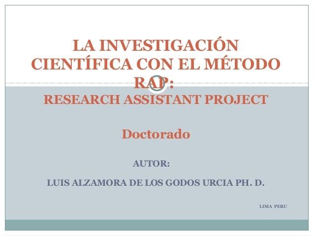 INVESTIGACION CIENTIFICA EN EL POSTGRADO