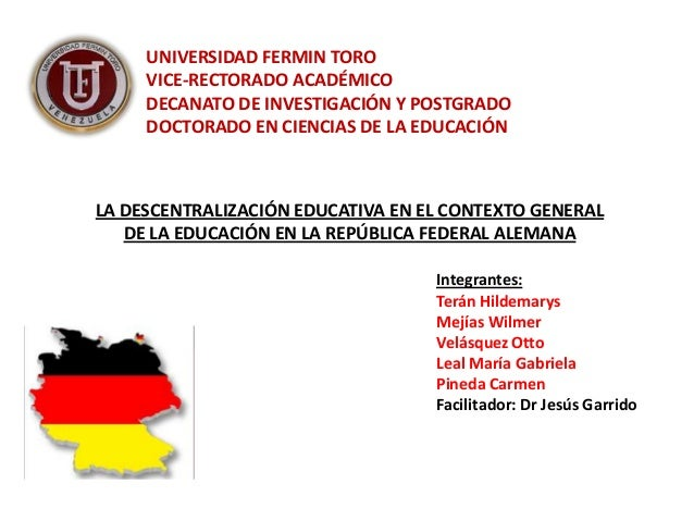 UNIVERSIDAD FERMIN TORO     VICE-RECTORADO ACADÉMICO     DECANATO DE INVESTIGACIÓN Y POSTGRADO     DOCTORADO EN CIENCIAS D...