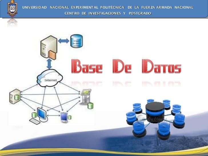 Exposicion  base datos