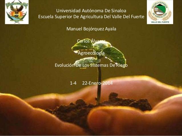 Universidad Autónoma De Sinaloa Escuela Superior De Agricultura Del Valle Del Fuerte Manuel Bojórquez Ayala Carlos Álvarez...
